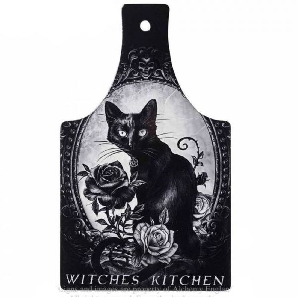 Alchemy Gothic Witches Kitchen Black Cat Ceramic Trivet